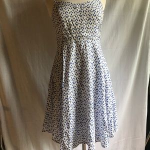 Old Navy blue and white dress